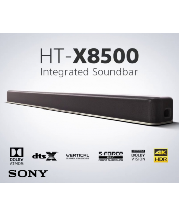 2.1ch Dolby Atmos®/DTS:X® Single Soundbar with built-in Subwoofer